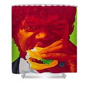Tasty Burger Shower Curtain