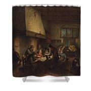 Tavern Scene Shower Curtain