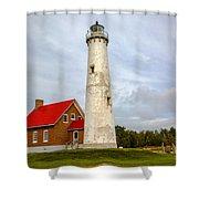 Tawas Point Lighthouse - Lower Peninsula, Mi Shower Curtain