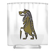 Taweret - Mythical Creature Of Ancient Egypt Shower Curtain