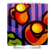 Tea And Apples Shower Curtain
