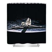 Tellus Crucifix V Shower Curtain