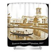 Tennessee Centennial Exposition, Auditorium Building, Lake And G Shower Curtain