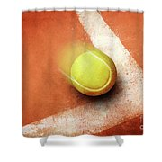 Tennis Point Shower Curtain