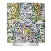 Tenochtitlan (mexico City) Shower Curtain