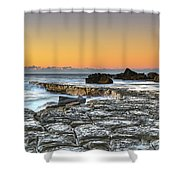 Tessellated Rock Platform And Seascape Shower Curtain