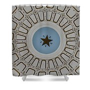 Texas State Capitol - Interior Dome Shower Curtain