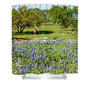 Texas Wildflowers Shower Curtain