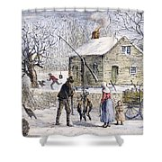 Thanksgiving, 1882 Shower Curtain