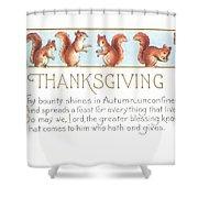 Thanksgiving Card Shower Curtain