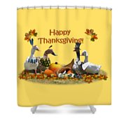 Thanksgiving Ducks Shower Curtain
