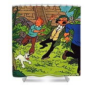 The Adventures Of Tintin Shower Curtain