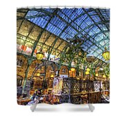 The Apple Market Covent Garden London Art Shower Curtain