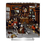 The Archdukes Albert And Isabella Visiting A Collector's Cabinet Shower Curtain