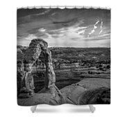 The Archway Bw Shower Curtain