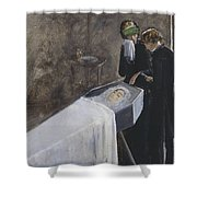 The Artist Attending The Mourning Of A Young Girl Shower Curtain