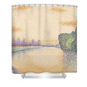 The Banks Of The Marne At Dawn Shower Curtain