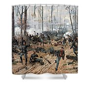 The Battle Of Shiloh Shower Curtain