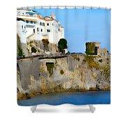 The Beach At Amalfi Shower Curtain