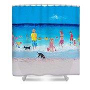 The Beach Parade Shower Curtain