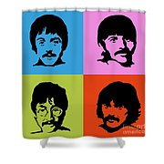 The Beatles Colors Shower Curtain