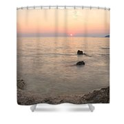 The Beautiful Istrian Coastline Shower Curtain