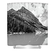 The Beauty Of Lake Louise Bw Shower Curtain
