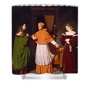 The Betrothal Of Raphael And The Niece Of Cardinal Bibbiena Shower Curtain