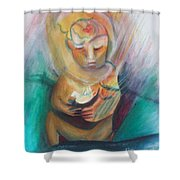 The Birth Of Peace Shower Curtain