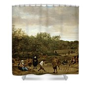 The Bowling Game Shower Curtain