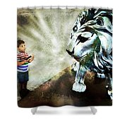 The Boy And The Lion 3 Shower Curtain