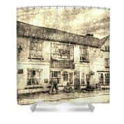 The Bull Pub Theydon Bois Vintage Shower Curtain
