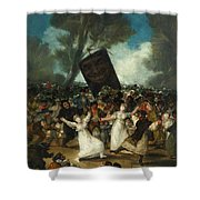 The Burial Of The Sardine Shower Curtain
