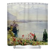 The Castle At Chillon Shower Curtain