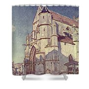 The Church At Moret Shower Curtain by Alfred Sisley