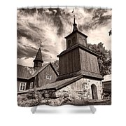 The Church Of Fagervik Shower Curtain