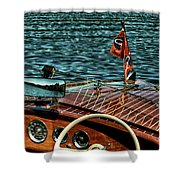The Classic 1958 Chris Craft Shower Curtain