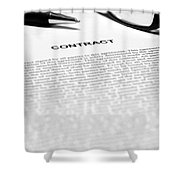 The Legal Contract Shower Curtain