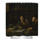 The Covetous Man Shower Curtain