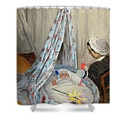 The Cradle - Camille With The Artist's Son Jean Shower Curtain