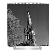 The Crooked Spire Of St Mary And All Saints Church, Chesterfield Shower Curtain