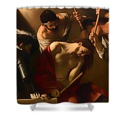 The Crowing With Thorns Shower Curtain
