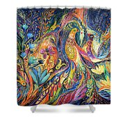 The Dance Of Oranges Shower Curtain