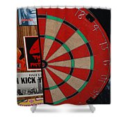 The Dart Board Shower Curtain