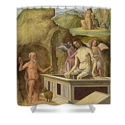 The Dead Christ Shower Curtain