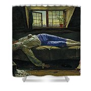 The Death Of Chatterton Shower Curtain