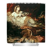 The Death Of Cleopatra Shower Curtain