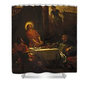 The Disciples At Emmaus Shower Curtain
