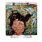 The Drowning Artist Shower Curtain