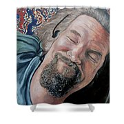 The Dude Shower Curtain by Tom Roderick